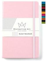 "Minimalism Art | Classic Notebook Journal, Size: 5"" X 8.3"", A5, Pink, Ru... - $11.97"