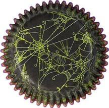 Wilton 225 Halloween Baking Cups Spider Webs Black Green Paper - $9.00