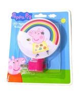 Peppa Pig LED Night Light Pink Girls Boys Birthday Gift Rainbow Home Decor - $4.94