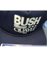 92 Republican Ticket Bush and Quayle Navy Blue Adjustable Cap and Bumper... - $30.00