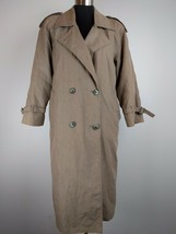 London Fog Women Trench Coat 4 Petite Beige Removable Thinsulate Lining ... - $49.49