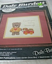 Cross Stitch Kit Count Your Blessings Lovable pal & puppies 1985 Dale Burdett - $11.87
