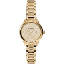 "Burberry BU10109 Women's ""Classic Round"" Swiss Gold Tone Watch 32mm - $399.00"