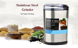 Electric Coffee Grinder Stainless Steel Bean Spice Maker Grinding Machin... - $39.67