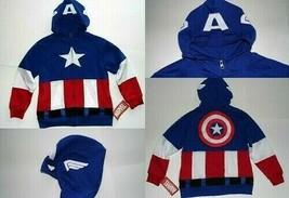 Marvel Avengers Captain America Boys Youth Sweatshirt Hoodie SIZE M 8/10... - $19.00