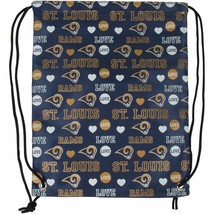 Classic St. Louis Rams Love Drawstring Backpack Logo NFL Bag Bookbag Foo... - $7.96