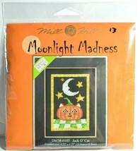 Halloween Cat Cross Stitch Debbie Mumm Kit Jack O Lantern Pumpkin Beaded... - $11.41