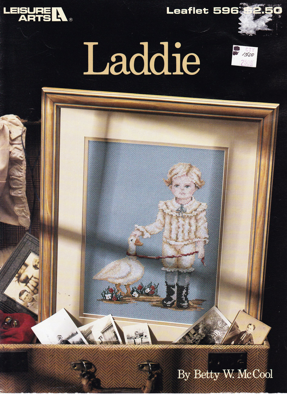 Primary image for CROSS STITCH LADDIE  LEISURE ARTS 596 BOY WITH DUCK GOOSE NOS
