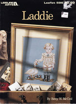 CROSS STITCH LADDIE  LEISURE ARTS 596 BOY WITH DUCK GOOSE NOS - $3.50