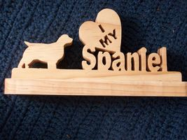 . I love my Spaniel wooden display - $25.00