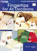 Cross Stitch Fingertips for All Occasions LEISURE ARTS 624 Christmas, Holidays - $3.95