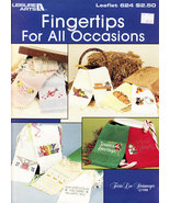 Cross Stitch Fingertips for All Occasions LEISURE ARTS 624 Christmas, Ho... - $3.95