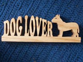 Dog Lover wooden display - $16.00
