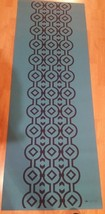 Lotus Printed Yoga Mat Blue  3mm x 24in x 68in  non-slip surface - $18.81