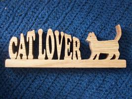 Cat lover wood display - $16.00