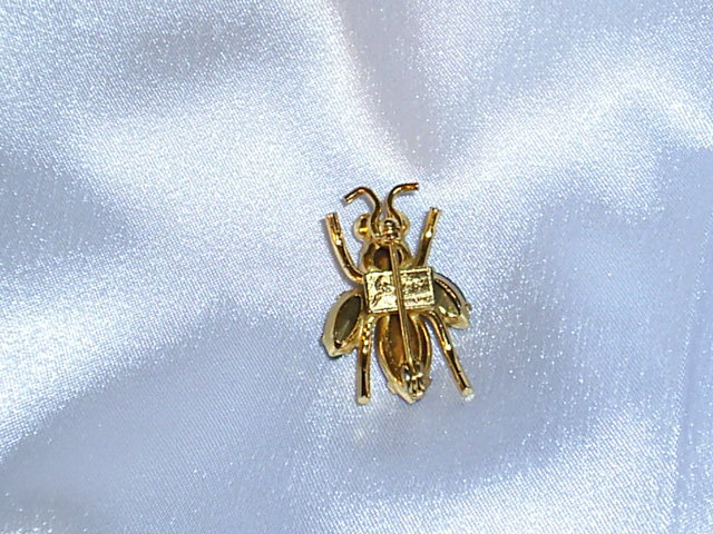 Coro Bee Pin  Pink Blue,Gold Sets Signed Sterling, 1940's Vintage EXC
