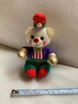 "1994 Sz 6.5"" Vtg Avon Holiday Teddy Bear Christmas Wearing Hat Pillow So... - $23.38"