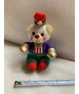"1994 Sz 6.5"" Vtg Avon Holiday Teddy Bear Christmas Wearing Hat Pillow So... - $23.38"