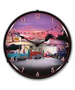 "Bruce Kaiser ""Wally's Service Station"" Wall Clock - $129.95"