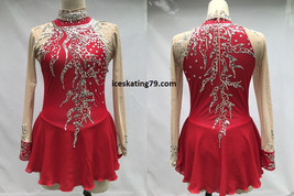 IceSkating Dress Girls Custom Figure Skating  Competition Red New Year S - $129.99