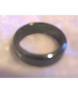 Hematite Stone Band Ring - $0.00