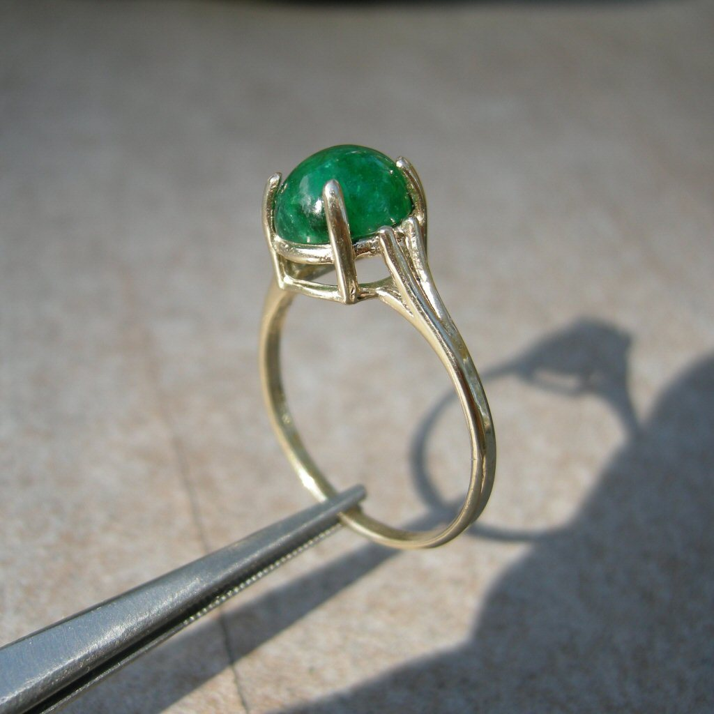 10k Yel Gold RIng 2.4ct Columbia Emerald