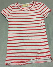 Princess Vera Wang Girls Gray and Red Stripe top Size S - $5.94
