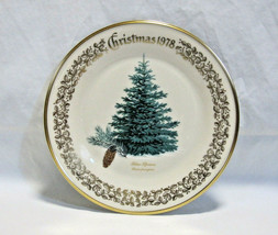 "Lenox 1978 Annual Christmas Tree Collector Plate Blue Spruce Evergreen 10 5/8""D - $12.00"