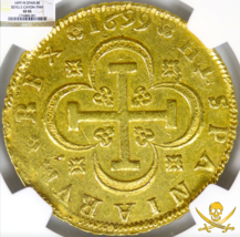 SPAIN 1699 8 ESCUDOS NGC 45 GOLD DOUBLOON TREASURE COIN Charles II RARE! - $25,000.00