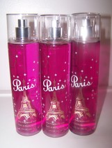 3 Bath & Body Works Paris Pink Champagne & Tulips Fine Fragrance Mist 8 ... - $21.50