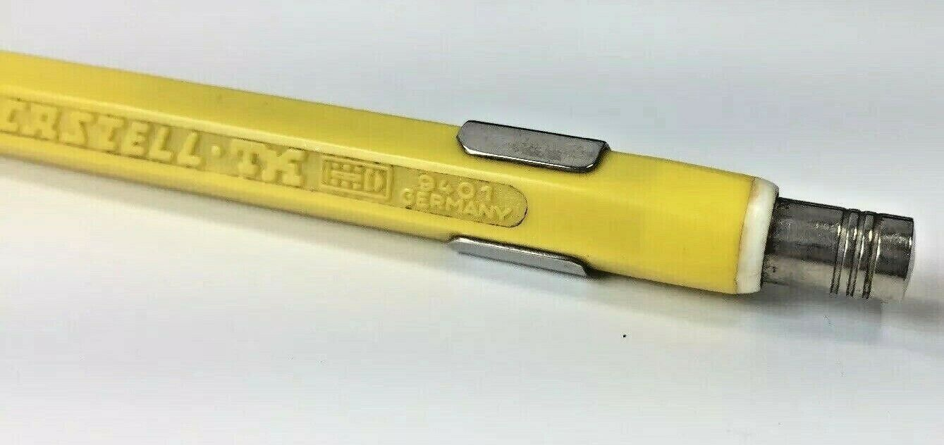 A W Faber-Castell TK 9401 Mechanical Pencil Yellow Drafting Germany Voest Alpine