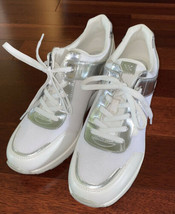 NWOB Michael Kors Trainer Textile and Leather Athletic White Shoes sz 10 - $129.99