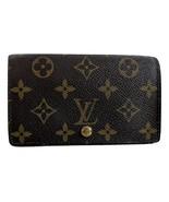 LOUIS VUITTON Monogram Porte-Monnaie Tresor Wallet Brown  - $295.00