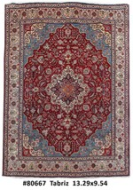 Carpet Handmade Rug 10x13 Persian Tabriz - $1,770.46