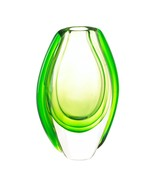 Glass Vases, Modern Wedding Short Big Vases Decorative For Tables (green) - $35.53