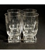 4 (Four) CAMBRIDGE GLASS SQUARE Crystal Water Glasses Mid-Century DIS-CONT. - $67.68