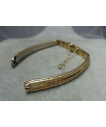 10K Gold Filled Ladies Wrist Watch Band with safety chain - NEW Mira-Flex - $30.00
