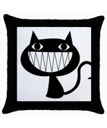 Throw pillow case cover cartoons black cat - $24.32 CAD