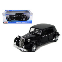 1952 Citroen 15CV 6CYL Black 1/18 Diecast Model Car by Maisto 31821bk - $51.53