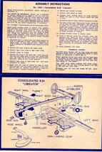 B-24 Liberator Assembly Instructions and Catalogue of airplanes (1950's) - $2.00