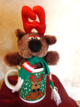 Joelson Holiday Reindeer Bear in a Christmas Mug (#2763) - $10.99