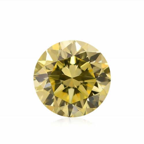 Primary image for 0.41Cts Fancy Yellow Loose Diamond Natural Color Round Cut GIA Certified