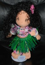 Precious Moments Applause Hawaiian Hula Girl Doll w/ Stand 1989 Vintage ... - $34.60