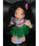 Precious Moments Applause Hawaiian Hula Girl Doll w/ Stand 1989 Vintage ... - $34.60