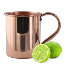 Solid Moscow Mule 100-percent Copper Mugs with Smooth Finish 16-ounce wi... - $34.45
