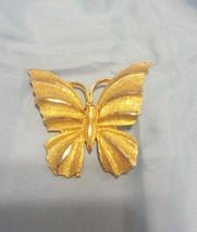 BSK Vintage Goldtone Butterfly Pin Brooch  - $19.02