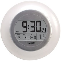 Taylor Precision Products 1750 Atomic Wall Clock with Thermometer - $37.72