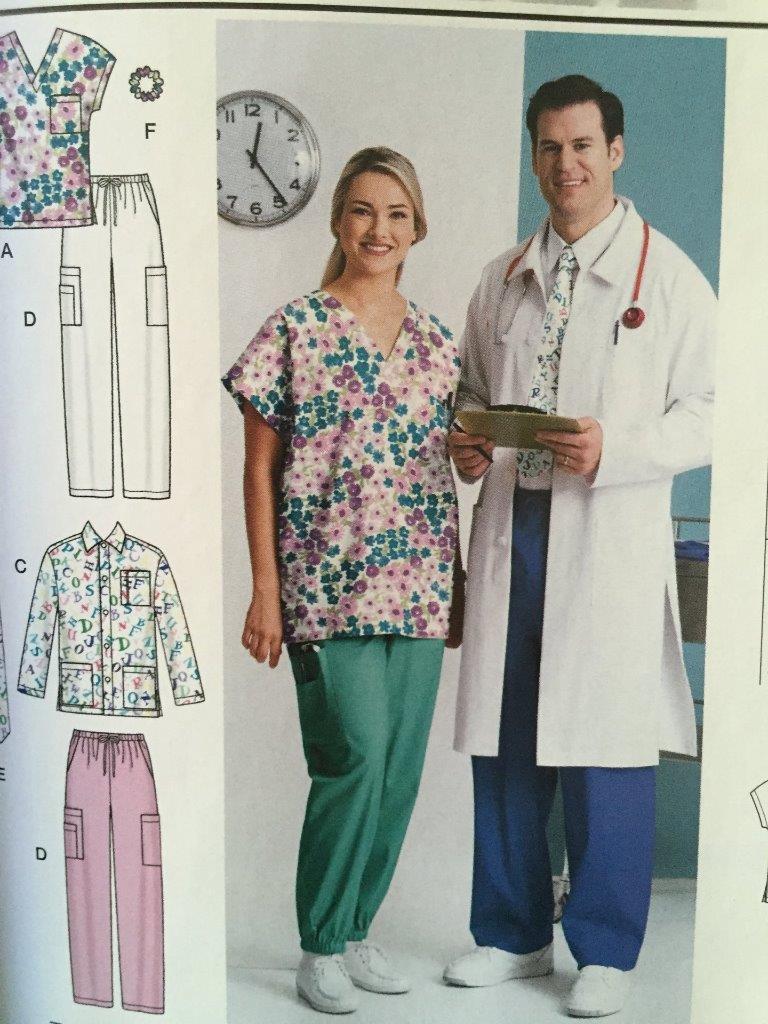 eac4f9ef64f S l1600. S l1600. Previous. Simplicity Sewing Pattern 5443 Misses Mens Scrub  Tops Pants Size XL-XXXL New