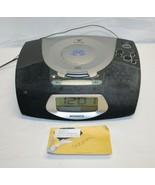 Magnavox MCR220BK Stereo CD Clock Radio Gentle Wake AM FM Alarm Tested W... - $29.69