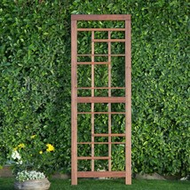 "Warm Cinnamon Finish Wood Craftsman 69"" Garden Trellis Outdoor Gardening... - $88.60"